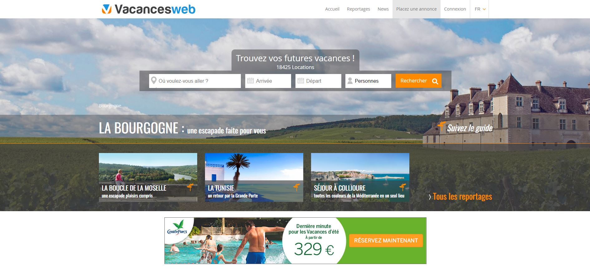 Vacancesweb web (French)